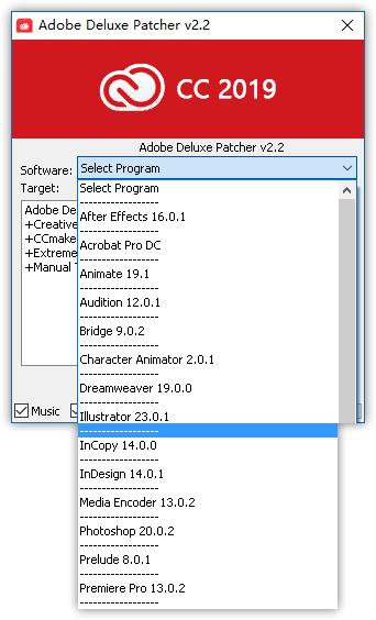 Adobe2019所有产品离线激活利器!Adobe Deluxe Patcher v2 2 - 幽游地